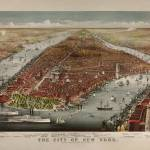 """Birdseye View of New York City 1876"" by worldwidearchive"