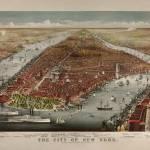 """Birdseye View of New York City 1876"" by worldwidearchive"