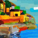 """Abstract - Swiss Village"" by halehmahbod"