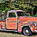 """Antique Chevy Truck Crossing The Color Line"" by crazysuncompany"