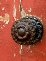 Door Knob on Red Door