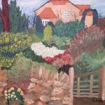 """garden and house oil16x20 2000"" by clou"