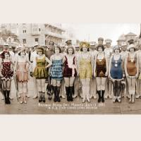 Flapper Swimsuit Contest Redondo Beach California Art Prints & Posters by marianne clancy
