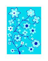 Bling Florals 2 (flowers, blue sky)