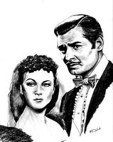 Scarlett O'Hara and Rhett Buttler