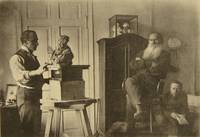 Leo Tolstoy and the sculptor Prince Paolo Troubetz