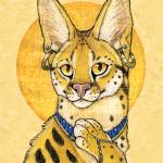 """Serval Portrait - Papyrus Cat"" by smbittler"