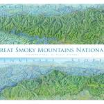 """Great Smoky Mountains National Park"" by jamesniehuesmaps"