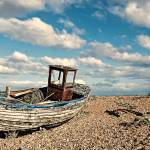 """Wrecked boat in Dungeness"" by georgefairbairnphotograph"