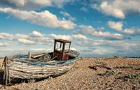 Wrecked boat in Dungeness