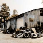 """Old Gas Station sepia"" by Cynthia_Burkhardt"