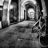 Bycicle, Arches and lights Art Prints & Posters by Francesco Malpensi
