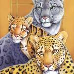 """Leopards - Snow, Clouded, Golden Leopards"" by smbittler"