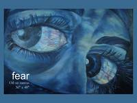 fear blue painting