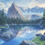 """Lone Eagle Peak, Colorado"" by jamesniehuesmaps"