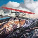 """Mail Run in the Boeing 40"" by RCMcSpaddenArtStudio"