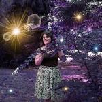 """""""Fantasy portrait - purple garden"""" by MariaK"""
