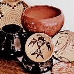 """Native American Pottery and Basket"" by Attentiongetters"