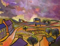 A Tuscan-landscape-from-my-original-acrylic-painti