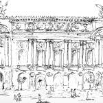 """Opera Garnier Paris Ink Drawing by Ginette"" by GinetteCallaway"
