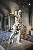 The Diana of Versailles in the Louvre-Paris