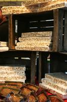 Shelves of Nougat at market