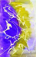 Purple and Yellow Abstract Watercolor