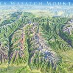 """Wasatch Mountains, Utah"" by jamesniehuesmaps"