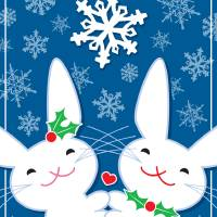 Holiday Bunnies Art Prints & Posters by S. M. Bittler