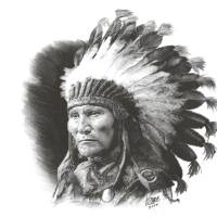 """Son of Sitting Bull"" by RCMcSpaddenArtStudio"