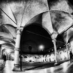 """Arches, people, lights Cityscape black and white"" by FrancescoMalpensi"