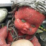 """red crackle art baby in chains"" by mkphotopdx"