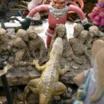 """santa vs. lizard at the last supper"" by mkphotopdx"