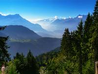 Leysin and Mont Blanc