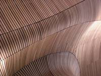 Rippling Brown Wooden Beams