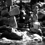 """Rocks stacked in Boulder Creek Deux"" by davidflurkey"