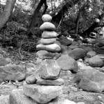 """Rocks stacked next to Boulder Creek"" by davidflurkey"