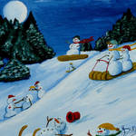 """Snowmans Winter Sports"" by anthonydunphy"