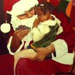 """Black Santa The Gift"" by amiranajahw"
