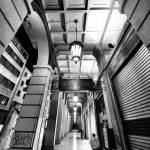 """City Arcades, lights reflections black and white"" by FrancescoMalpensi"
