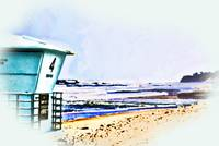 LIfe Guard Tower digital painting