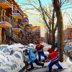 """MONTREAL STREETHOCKEY  ON DE BULLION STREET"" by carolespandau"