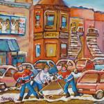 """FAIRMOUNT BAGEL WITH STREET HOCKEY GAME"" by carolespandau"