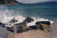 Waves on Skopelos, Greece