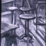"""Stools and Desks in Shadows"" by TiffanyPage"