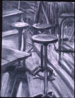 Stools and Desks in Shadows