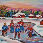 """POND HOCKEY BEAUTIFUL DAY"" by carolespandau"