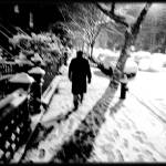 """Man Walking in Snow"" by JBPhotography"