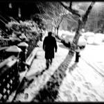 """Man Walking in Snow"" by JBPhotography"