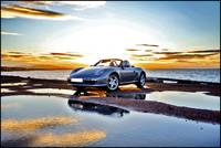 Porsche Boxster at Sunset by the Sea.